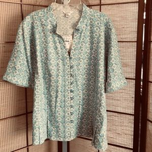 Christopher Banks extra large teal  looped buttons